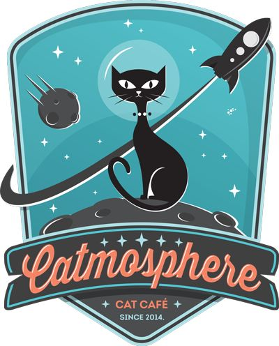 Catmosphere - a space-themed cat café in Chiang Mai. I'm just saying... This exists and I'm going.