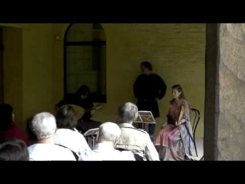 """Amors merçè non sia"", a 13th-century anonymous song performed live by Evelyne Moser, Davide Di Giannantonio (and Denis Vanderhaegen) during their concert ""Le troubadour et la trouveresse"" at the ""Festival Prieurales 2010""."