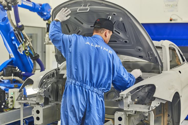The 2018 Renault Alpine A110 starts production in Dieppe, France in December 2017.