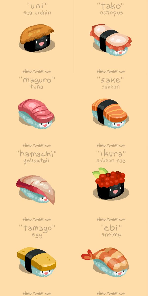 Bouncing GIF! Japanese Sushi Terms, Translated