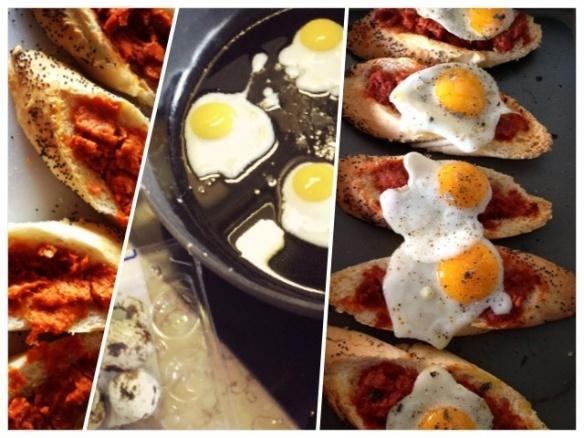 Sobrassada and quail egg toasts | Quail Eggs, Quails and Egg Toast