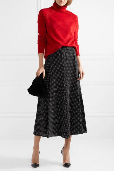 89d043158dae Max Mara | Polka-dot silk crepe de chine midi skirt | NET-A-PORTER.COM