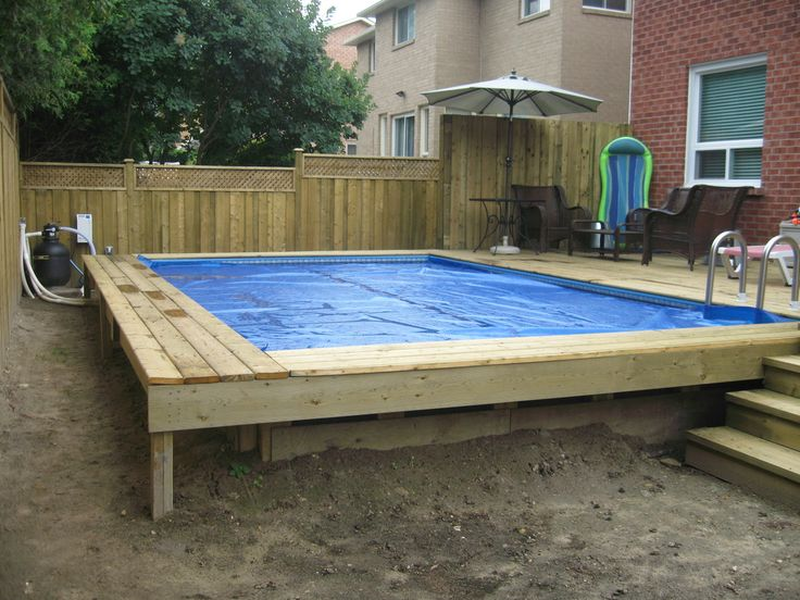 Semi inground pools finest semi inground pools with semi for On ground pools