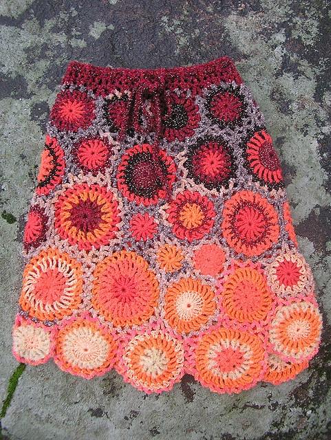 Crochet motif skirt