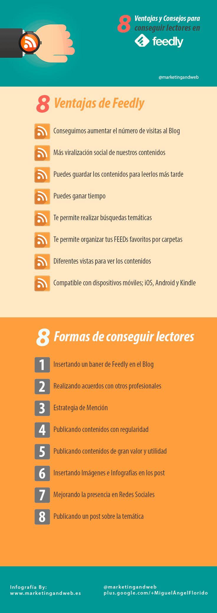 ★★★★★ Completa guía donde te enseño 8 formas de conseguir lectores de Feed RSS con Feedly, con los que aumentar las visitas de tu Blog ✓ #blog #wordpress #blogger #feedly