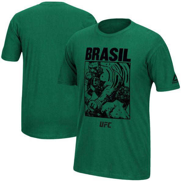 Reebok UFC 212 Brasil Mediator Weigh-In Face-Off T-Shirt - Green - $24.99