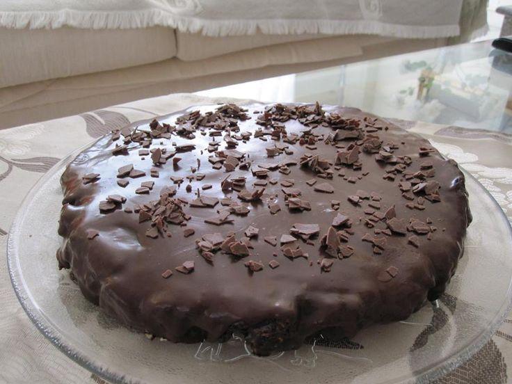 Μωσαϊκό με γλάσο μαύρης σοκολάτας. ~ ΜΑΓΕΙΡΙΚΗ ΚΑΙ ΣΥΝΤΑΓΕΣ