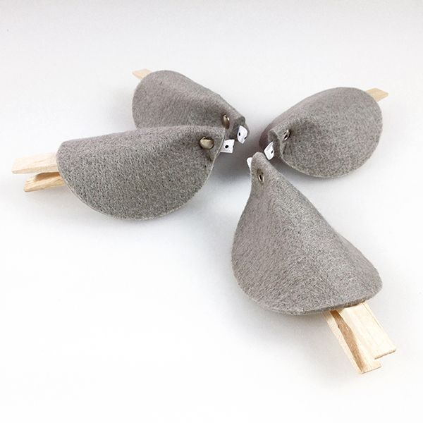 Xmas PIPPI grey felt decoration