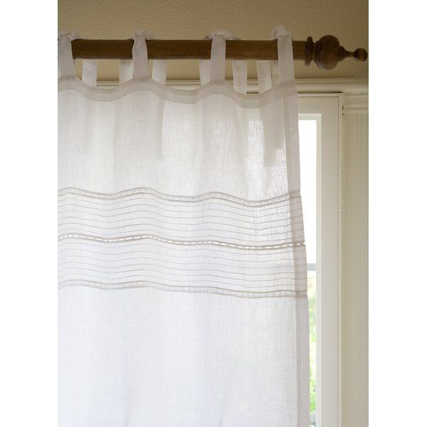 Elisa Solid Sheer Tab Top Curtain Panel Reviews Joss Main