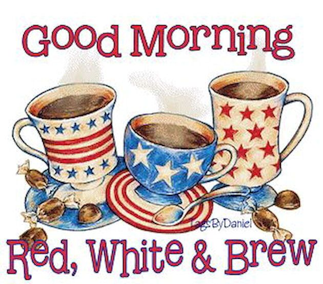 Good Morning red white & brew Memorial Day