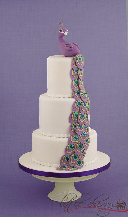 Purple Peacock Cake