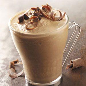 Hazelnut Mocha Smoothies Recipe  Ingredients  1 cup milk  1/2 cup Nutella  4 teaspoons instant espresso powder  6 ice cubes  2 cups vanilla ice cream  Chocolate curls, optional