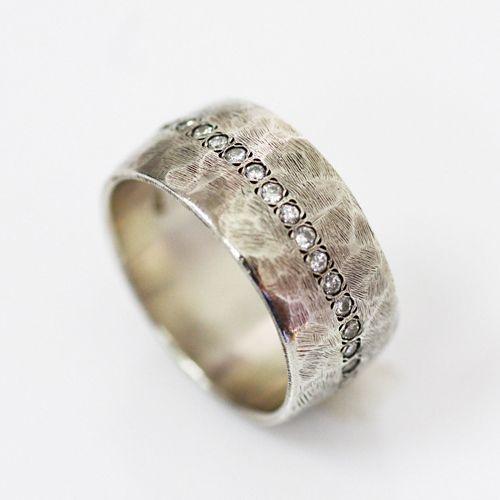 lilo JEWELRY ラウンドダイヤ silverボリュームリング 03