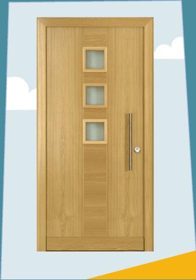 adi t ren haust r modell a3 b2 in l rche mit edelstahl. Black Bedroom Furniture Sets. Home Design Ideas