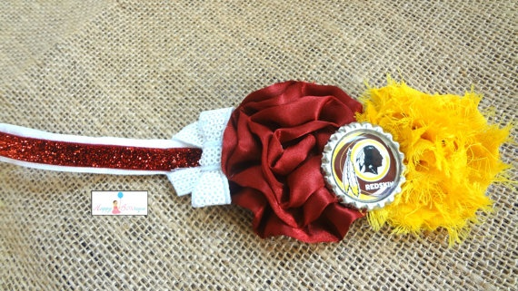 NFL Redskins Baby Girls Headband Washington by HappyBOWtique, $9.99