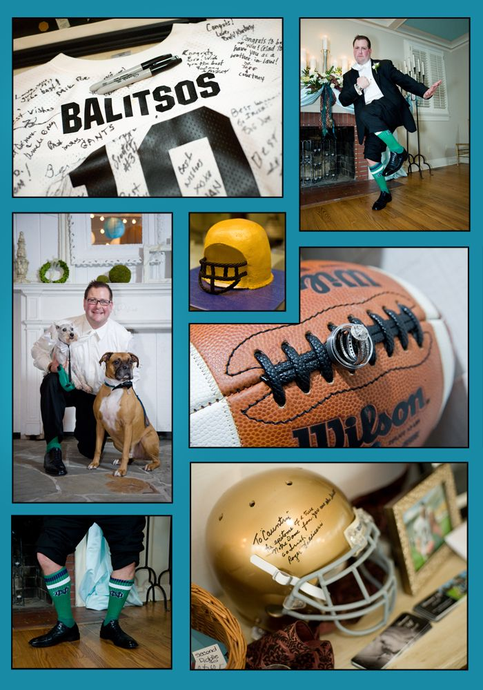 Best 25 football wedding themes ideas on pinterest football notre dame fan showed his irish pride with style at his wedding guest were invited football wedding themesfootball junglespirit Images