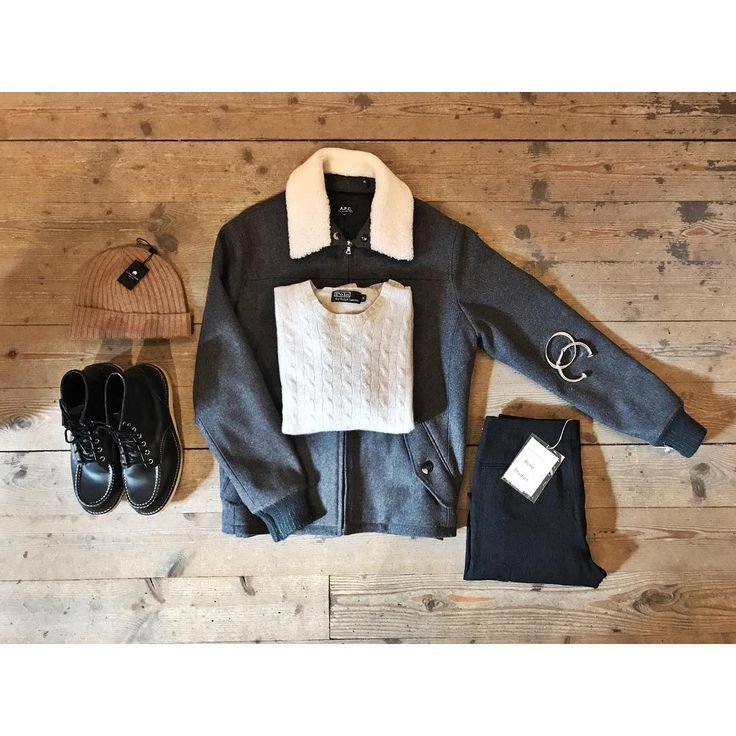 "84 gilla-markeringar, 1 kommentarer - Herr Judit (@herrjudit) på Instagram: ""Comfortable yet stylish Saturday outfit inspo. • Grey #apc jacket with white fake fur collar •…"""