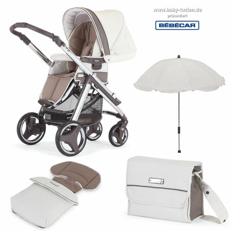 Sehr praktisch, denn Sie können das Bébécar Kinderwagengestell auch mit einem Sportwagenaufsatz nutzen. Außerdem gibt es passende Accessoires, wie Fußsäcke, Wickeltaschen oder einen Sonnenschirm in der selben Farbe (EM302) optional dazu.