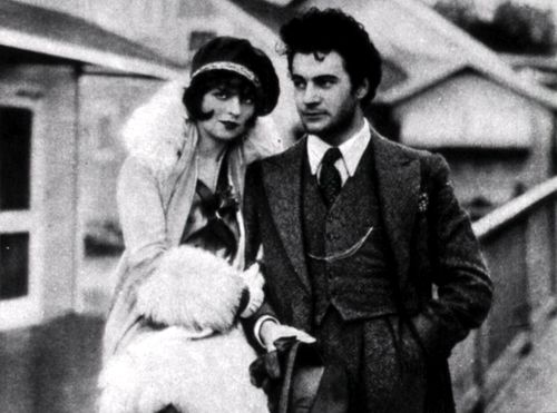 """Fashionable Couple ☆ Clara Bow and Gilbert Roland ☆ The Plastic Age (1925) ☆ Screencap from Clara Bow: Discovering the """"It"""" Girl ☆"""