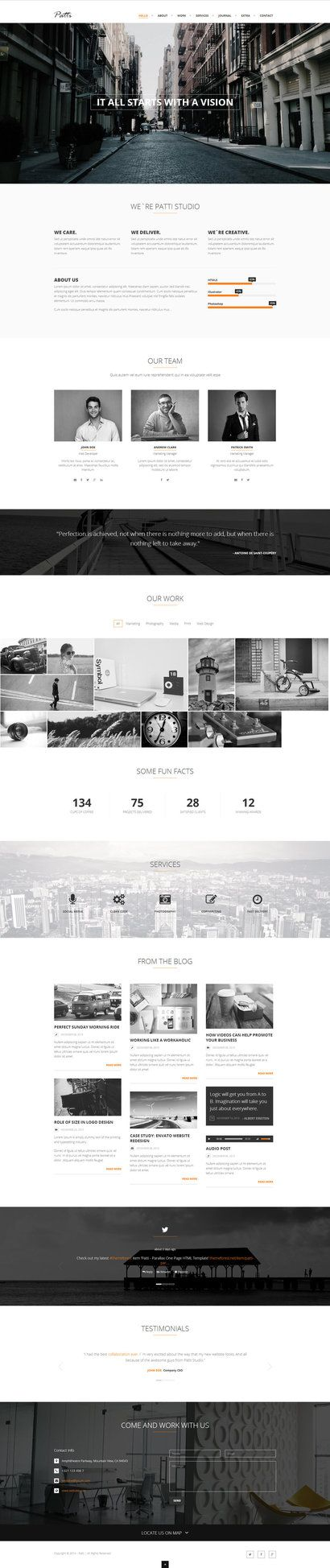 Patti - Parallax One Page HTML Template by DarkStaLkeRR on deviantART