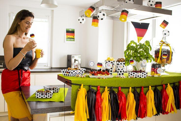 """Im Fußball-Fieber #EM #Dekoidee #Fussball  Ein Beitrag von @decorized auf """"Schön bei Dir"""""""