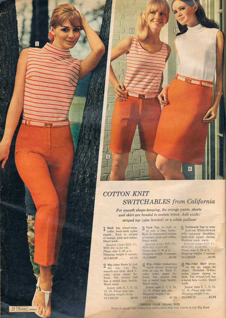 Sears Catalog 1967 Sixties Fashion 60s Fashion Trends