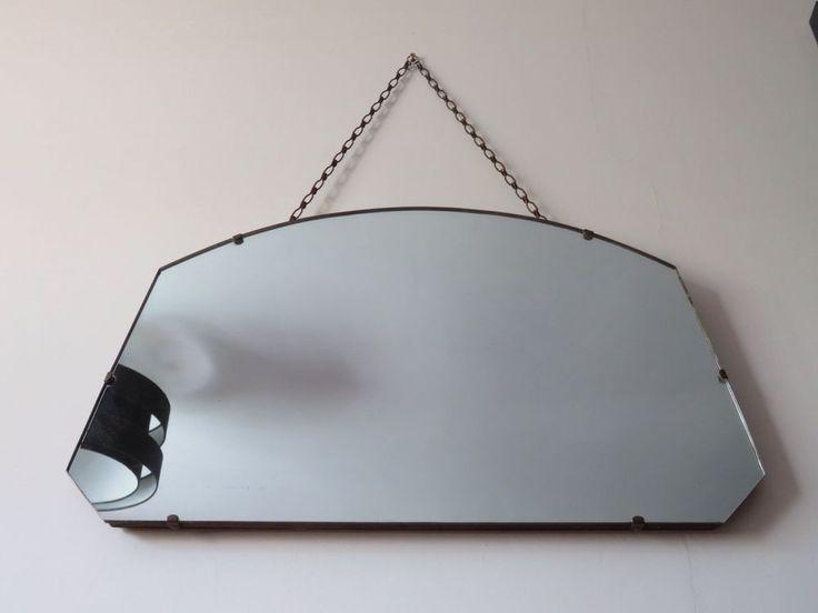 Antique, Retro 1930 s Hanging Mirror