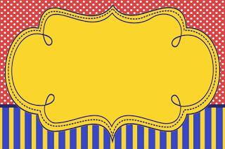 Azul, Rojo y Amarillo: Invitaciones para Fiesta de 15 Años para Imprimir Gratis.
