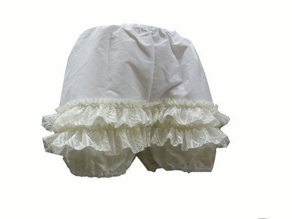 Bloomers Short Ladies Knickers White 1815 by 911Costume on Etsy