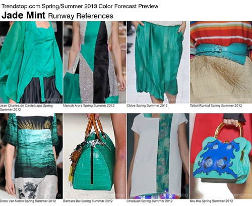Jade Mint Moodboard.   COLOR SPRING 2013 WOMEN'S TREND REPORT TRENDSTOP.COM: 2012 Color, Color Preview, Ss2013, Mint Color, Wedding Colors, Color Palette, Color Spring, Color Trends