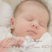 Baby Georgia - Photography, Editing & Design by Rose Meddings Photography