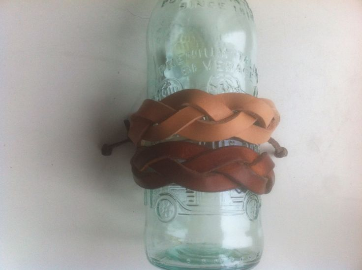 Leather bracelets - new and used