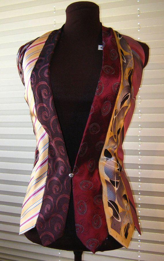 Elegante saco de corbatas. #IdeasenOrden #closets #fashion #reciclar