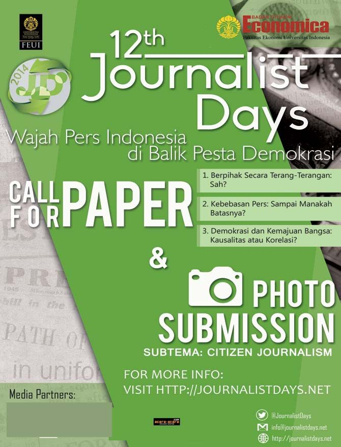 anggota pers mahasiswa?Suka menulis?Kami tunggu karyamu diacara Call For Paper Journalist Days '14 by @journalistdays