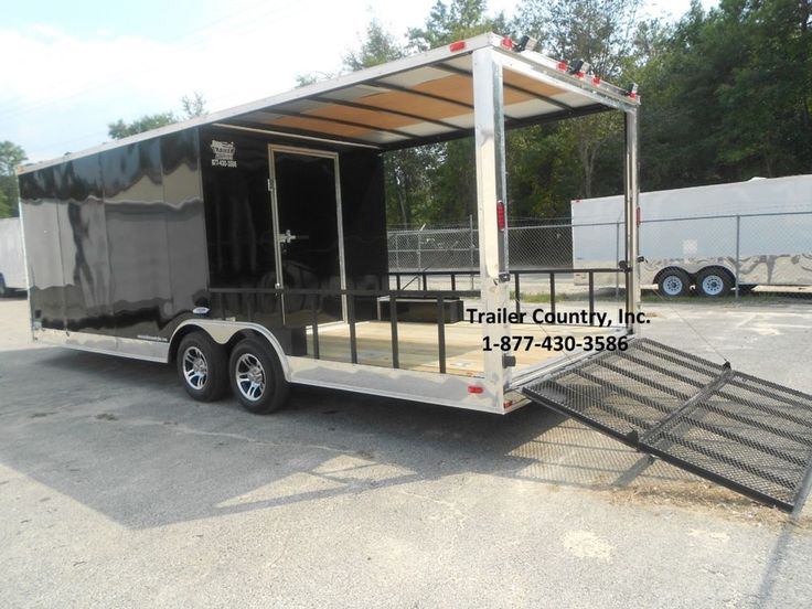 NEW 2015 85x24 85 X 24 Custom Utility Enclosed Cargo Trailer W Porch Ramp