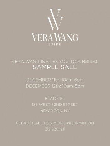 Vera Wang Wedding Dresses Sample Sale