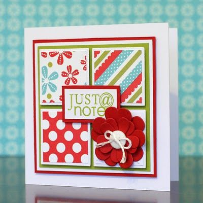 Pretty card layout: Layout Used Scrap Paper, Limes Doodles, Cards Ideas, Squares Cards, Pretty Cards, Greeting Cards, Cards Layout, Note Cards, Bright Colors
