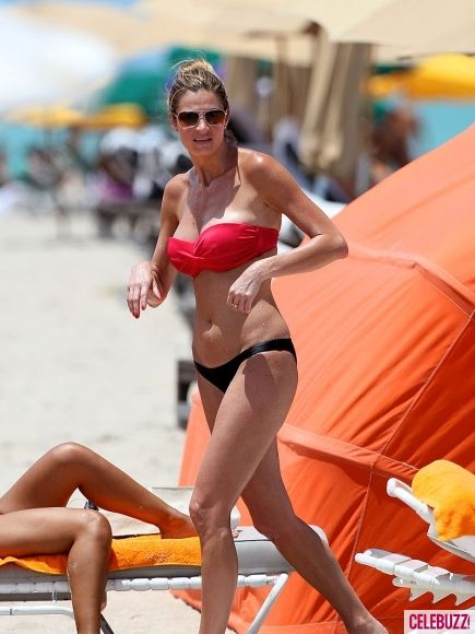 ESPN's Erin Andrews enjoys a day at the beach in Miami.