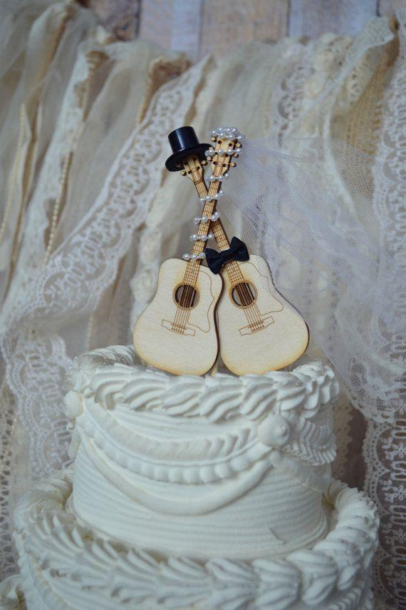 Guitar wedding cake toppermusicianwedding cake by MorganTheCreator, $32.00