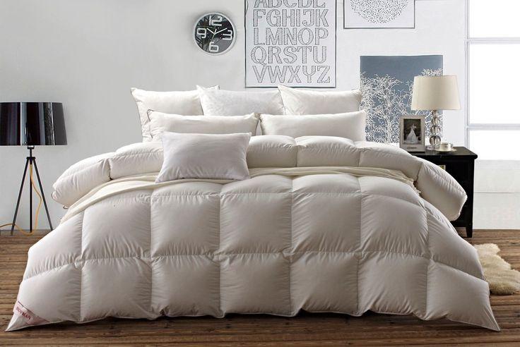 Snowman White Bed Comforter 100 Egyptian Cotton King Size Luxurious GOOSE Down | eBay