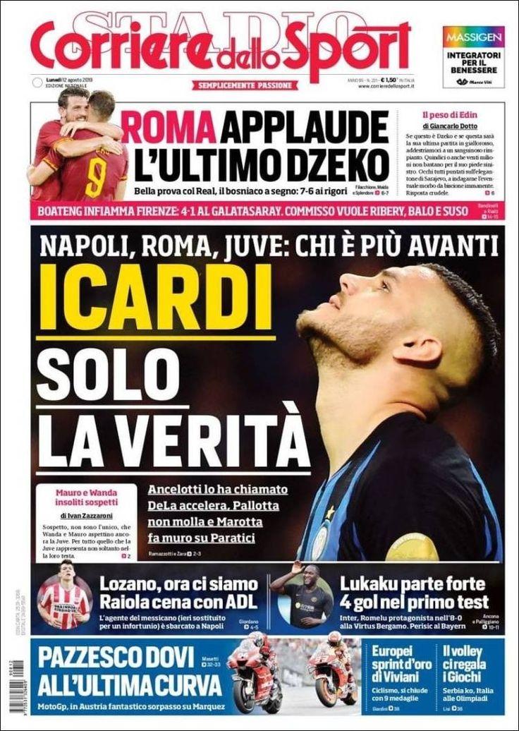 Corriere dello Sport (12 de agosto de 2019) Portadas de