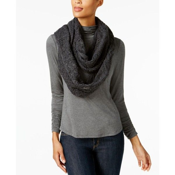 Michael Michael Kors Cable Patchwork Infinity Scarf ($58) ❤ liked on Polyvore featuring accessories, scarves, derby, cable knit infinity scarves, cable knit circle scarf, michael kors, cable knit scarves and circle scarves