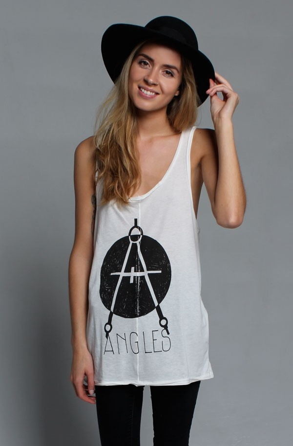 Illustrated People Racerback Vest 'Angles'