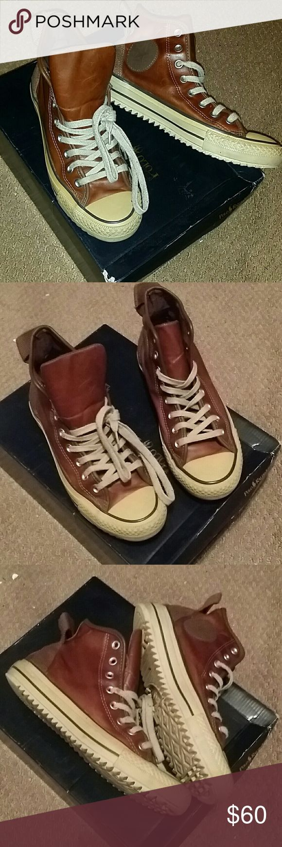 Converse Shoes Brown, Leather Converse Shoes Sneakers