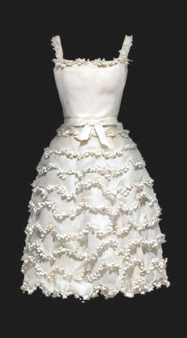 "1954 ""Muguet"" Lily of the Valley Dress by Christian Dior"