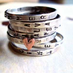 Stacking Rings - Valentines