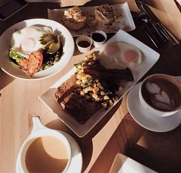 By Kristi Alexandra & Brittany Tiplady @kristialexandra//@yellowbird888  Sunny bistro on Granville Island serves up best fresh pastries & hair-of-the-dog coffees