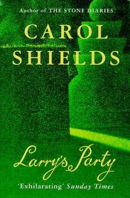 Larry's Party by Carol Shields, cover illustration from Presentiment (1973-78) by David Inshaw