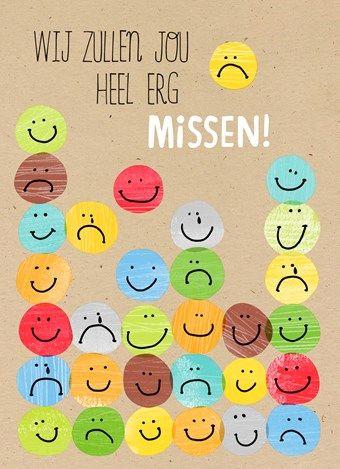 Wij zullen jou heel erg missen! #Hallmark #HallmarkNL #smiley #missen #afscheid