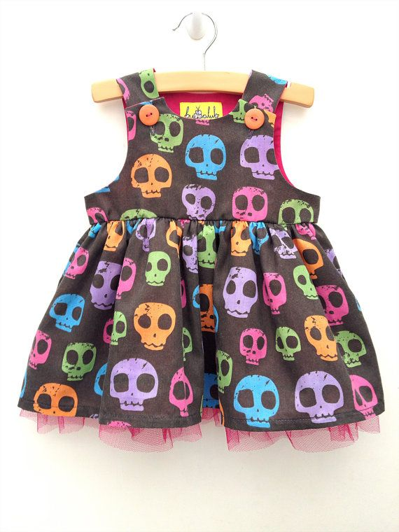 SUMMER SALE... 20 OFF Goth Baby Candy Skulls by BubbalubzBabyWear, £26.41